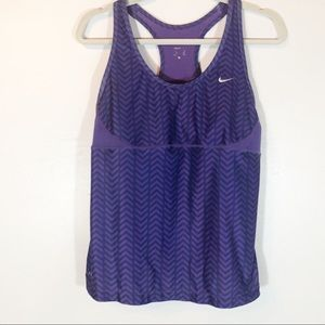 Nike dri fit purple active tank top